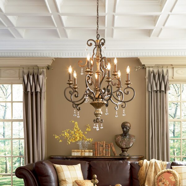Windsor Rise 9-Light Candle Style Classic / Traditional Chandelier with Crystal Accents by Astoria Grand Astoria Grand