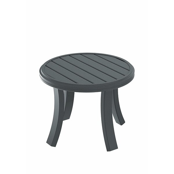 Banchetto Aluminum Side Table by Tropitone