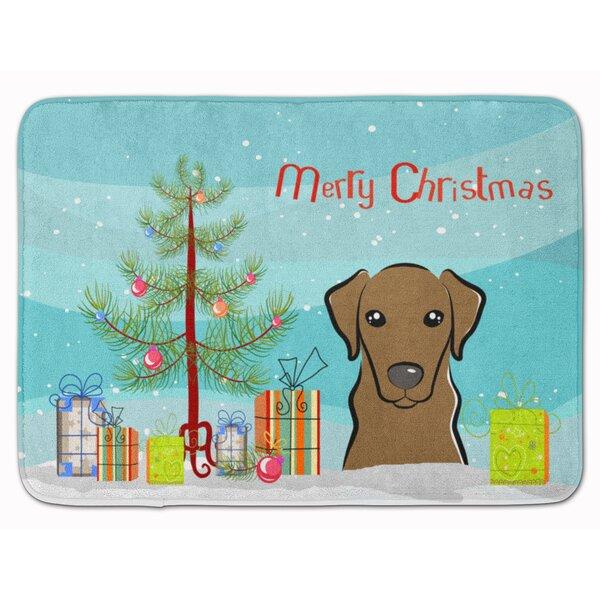 Christmas Tree and Labrador Memory Foam Bath Rug by The Holiday Aisle