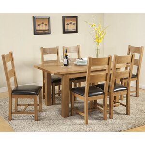Essgruppe Rothbury mit ausziehbarem Tisch und 6..