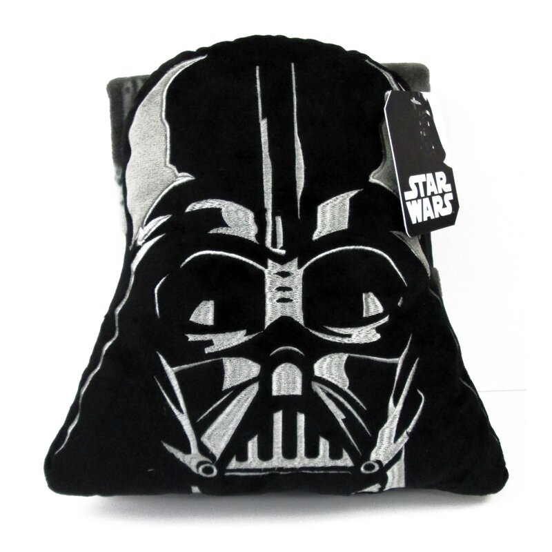 Disney Star Wars Toddler Boys Size S M Black Red Darth Vader Comfy Slippers NEW
