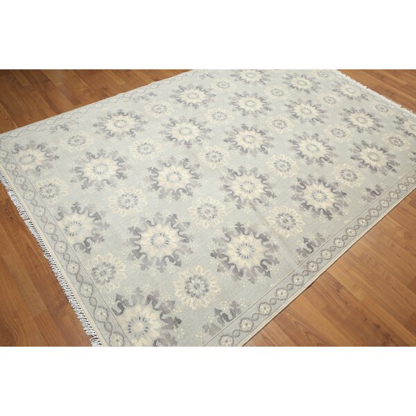One-of-a-Kind Groggan Hand-Knotted Wool Beige/Gray Area Rug by Canora Grey