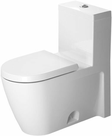 Starck 2 1.28 GPF (Water Efficient) Elongated One-Piece Toilet with Glazed Surface (Seat Not Included) by Duravit