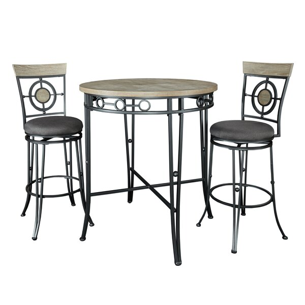 Benedetto 3 Piece Pub Table Set by World Menagerie