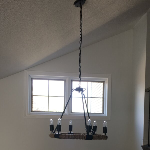 Bruck 6 - Light Unique / Statement Wagon Wheel Chandelier With Crystal Accents By Williston Forge