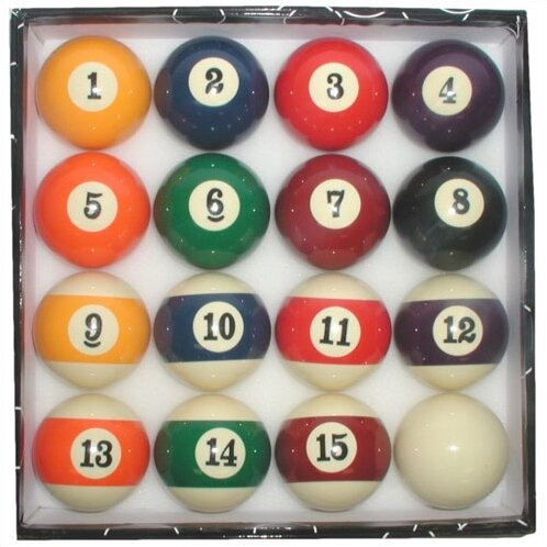 Standardized Pool Ball Set with Big Numbers by Trademark Games