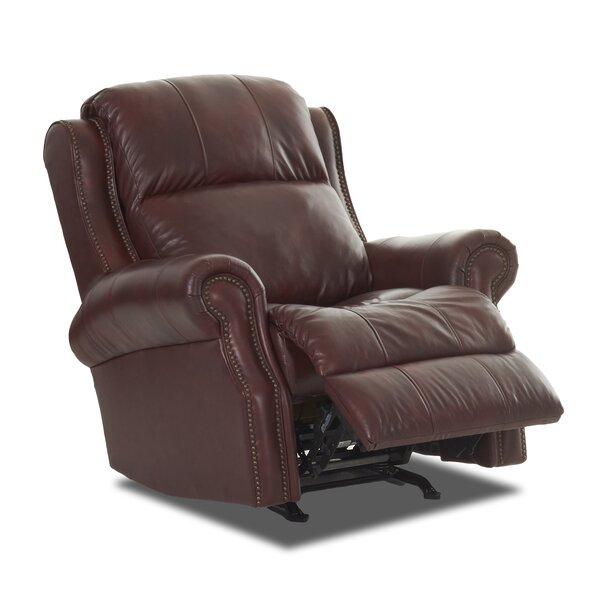 Defiance Leather Power Rocker Recliner by Red Barrel Studio
