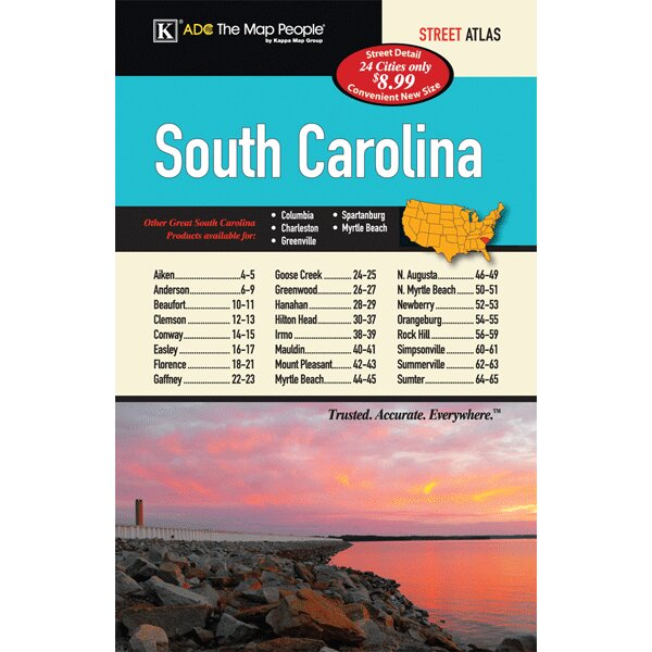 South Carolina Cities and Towns Atlas by Universal Map
