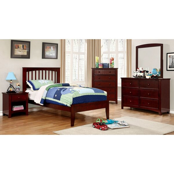 Bewley Brook Full Bed With Night Stand Dresser And Mirror Set by Harriet Bee