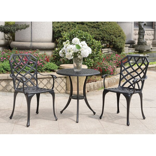 Braymer Round 3 Piece Bistro Set by Fleur De Lis Living
