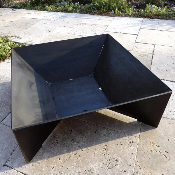 Geo Steel Wood Burning Fire Pit by Cavo Design