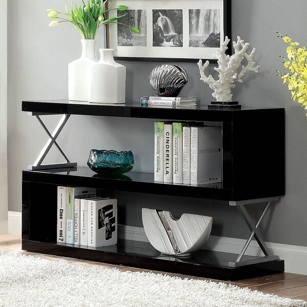 Puckett Contemporary S-Shaped Etagere Bookcase by Latitude Run