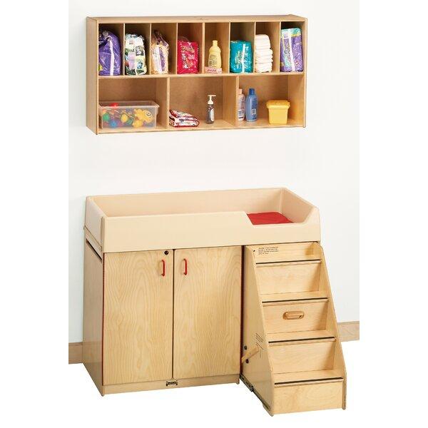Diaper Organizer/Changer Combo with Stairs - Rectangular (48.5 x 23.5) by Jonti-Craft