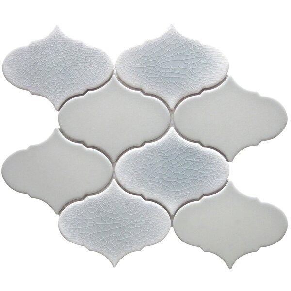 Retro 3 x 3 Porcelain Mosaic Tile in Beige by Emser Tile