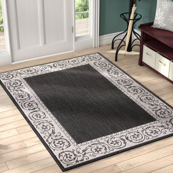 Annapolis Black Indoor/Outdoor Area Rug by Charlton Home