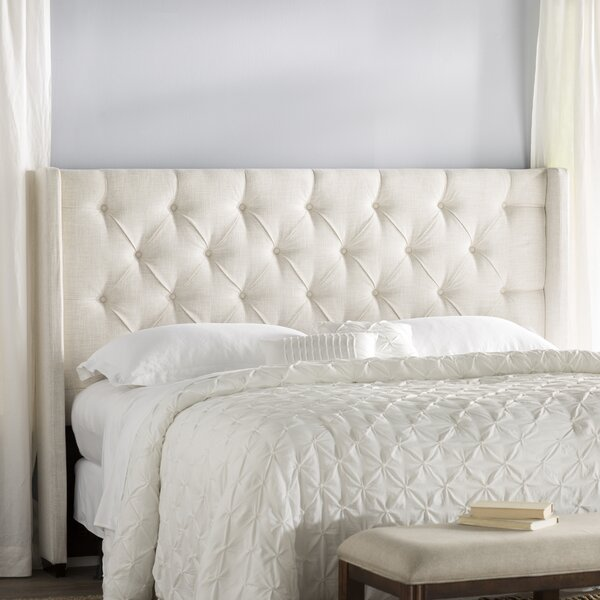 Andrews Upholstered Wingback Headboard By Lark Manor by Lark Manor Bargain