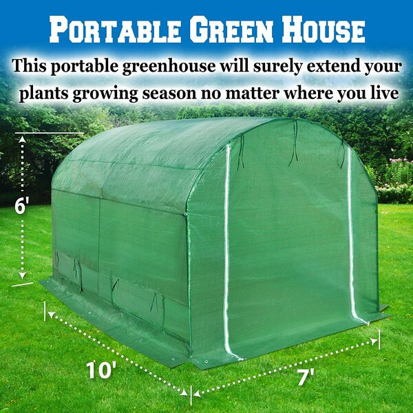 7 Ft. W x 10 Ft. D Hobby Greenhouse by Sunrise Out