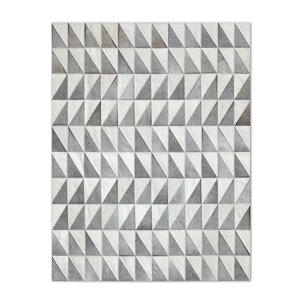 Patchwork Cowhide Gray Area Rug by Pure Rugs