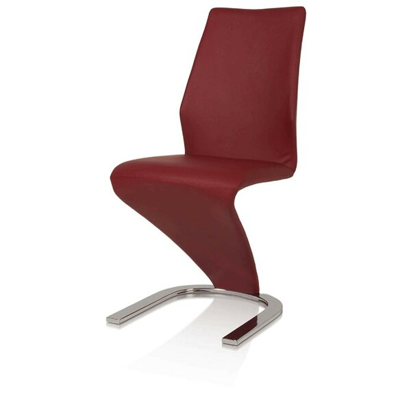 Duwayne Unique C Shaped Metal Upholstered Dining Chair (Set of 2) by Orren Ellis