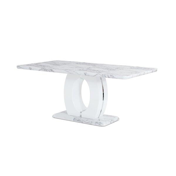 Kimbell Pedestal Base Dining Table by Brayden Studio Brayden Studio