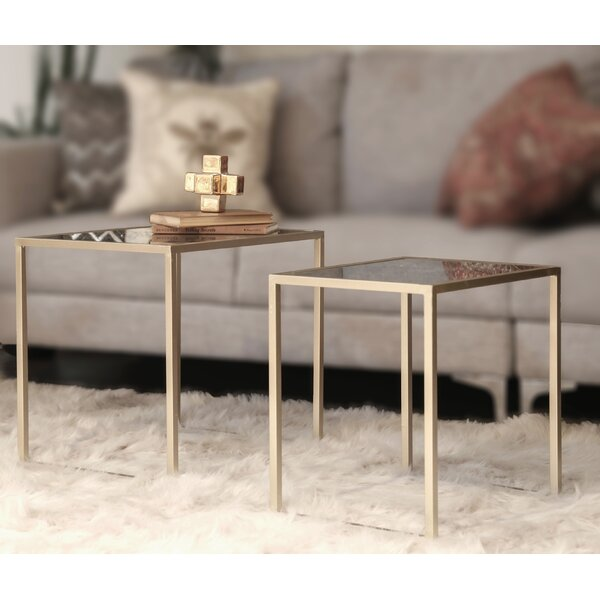 Metal 2 Piece Nesting Tables by Urban Trends