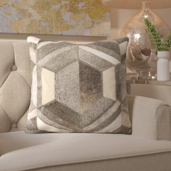 Gertrud Leather Throw Pillow by Willa Arlo Interiors
