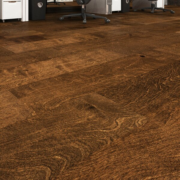 Barrio 5 Engineered Birch Hardwood Flooring in Brown by GoHaus