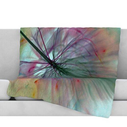 Fleur Throw Blanket by KESS InHouse