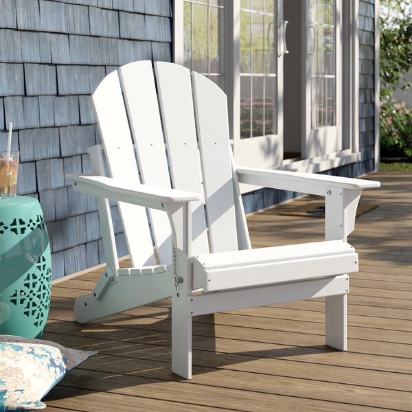 Alger Plastic/Resin Folding Adirondack Chair By Highland Dunes