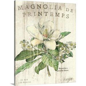 'Magnolia de Printemps' by Sue Schlabach Graphic Art on Wrapped Canvas by Great Big Canvas