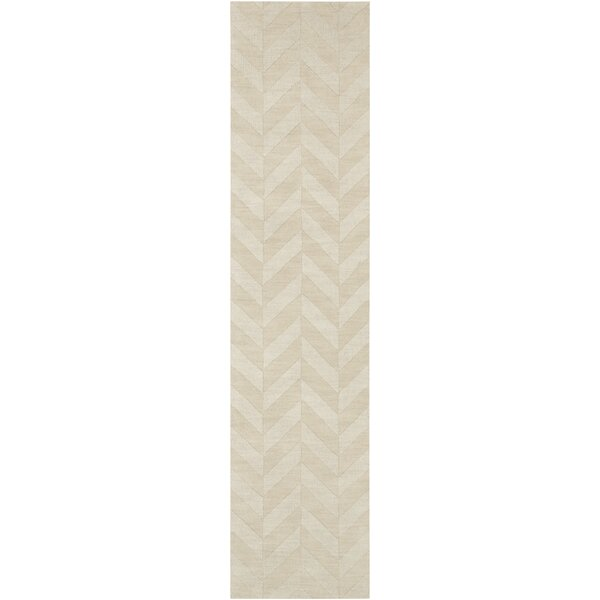 Sunburst Handwoven Wool Ivory Area Rug by Greyleigh