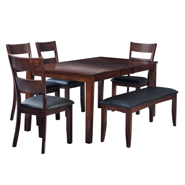 Boswell 6 Piece Solid Wood Dining Set by TTP Furnish