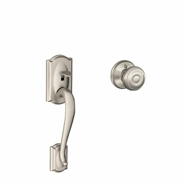 Camelot Lower Half Handleset and Georgian Knob by Schlage