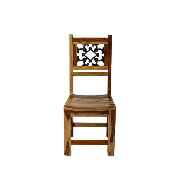Thurber Solid Wood Dining Chair by Millwood Pines