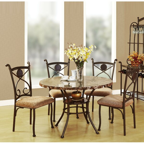 Jefferies 5 Piece Dining Set by Fleur De Lis Living