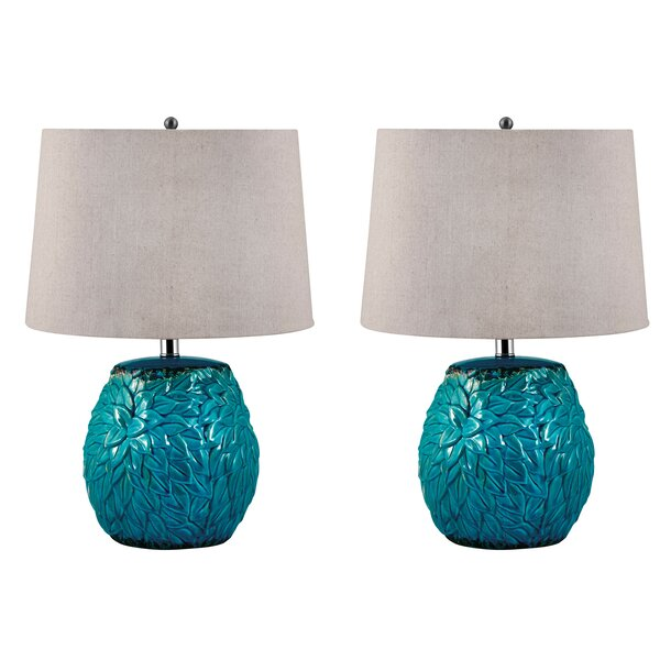 Albrecht Leaf Terra Cotta 25 Table Lamp (Set of 2) by Brayden Studio