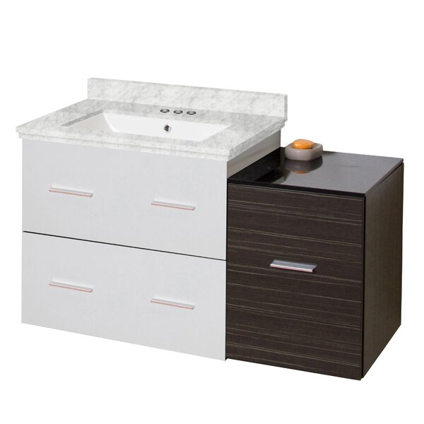 Phoebe Drilling Wall Mount 38 Modern Single Bathroom Vanity Set by Orren Ellis