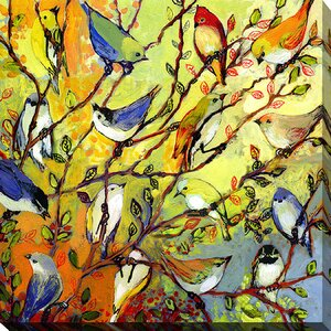 16 Birds by Jennifer Lommers Painting Print on Wrapped Canvas by Picture Perfect International
