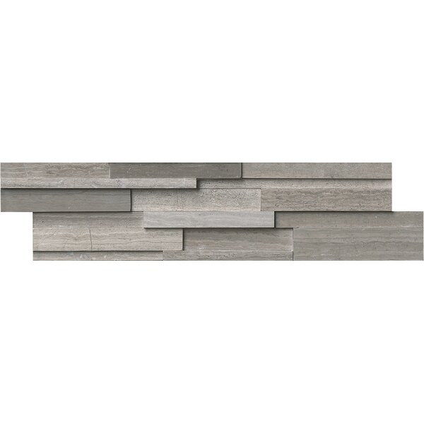 6 x 24 Marble Splitface Tile in Gray by MSI