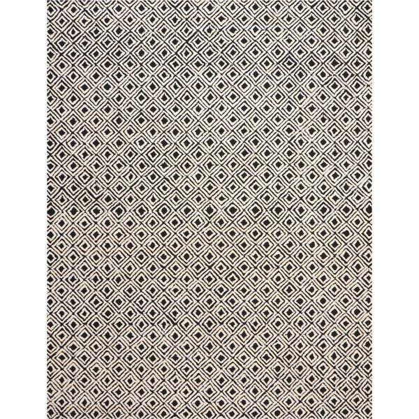 Chism Deco Hand-Tufted Black/Beige Area Rug by George Oliver