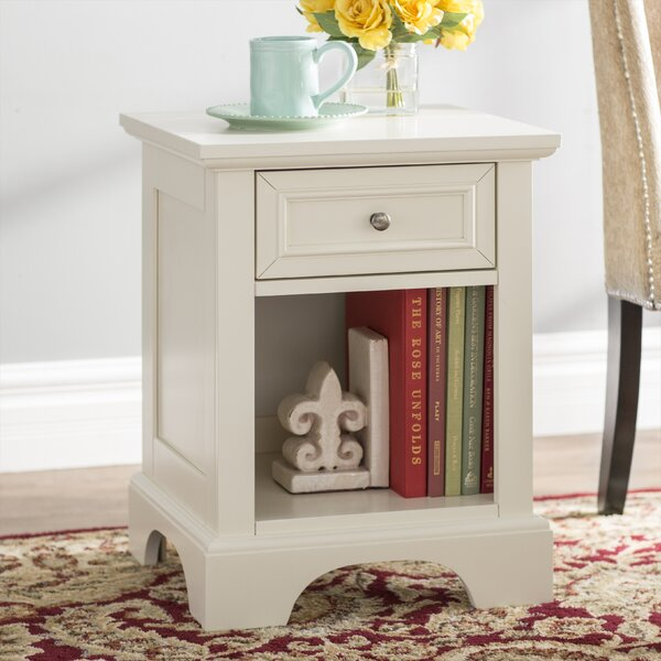 Cusick 1 Drawer Nightstand by Three Posts