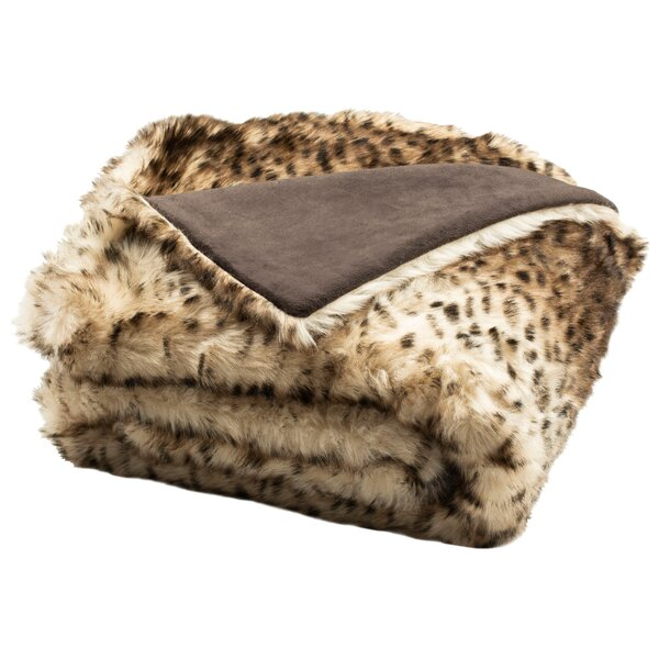 Greenford Faux Leopardis Throw by Bloomsbury Market