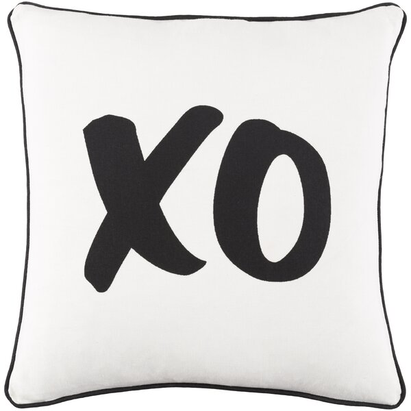 Carnell XO Cotton Throw Pillow by Mercury Row