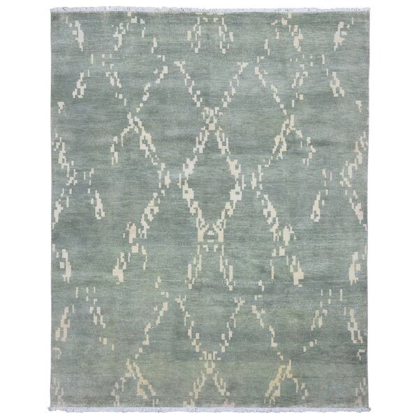 One-of-a-Kind Ezine Oushak Oriental Hand Woven Wool Green/Beige Area Rug by Isabelline