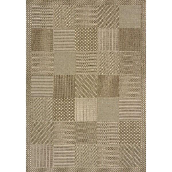 Solarium Brown Patio Block Indoor/Outdoor Rug by United Weavers of America