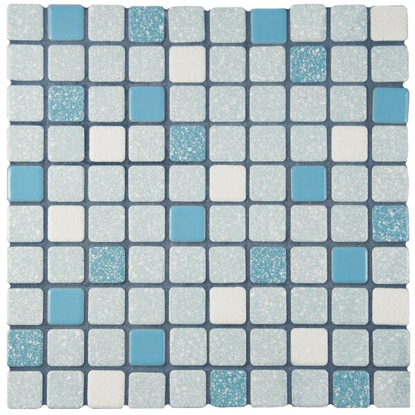 Minerva 1.1 x 1.1 Porcelain Mosaic Tile in Blue by EliteTile