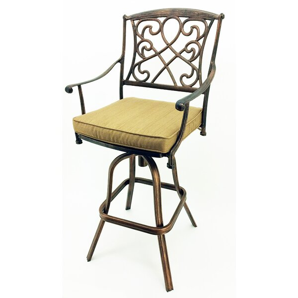 Wilshire 29.5 Patio Bar Stool with Cushion (Set of 4) by Vandue Corporation