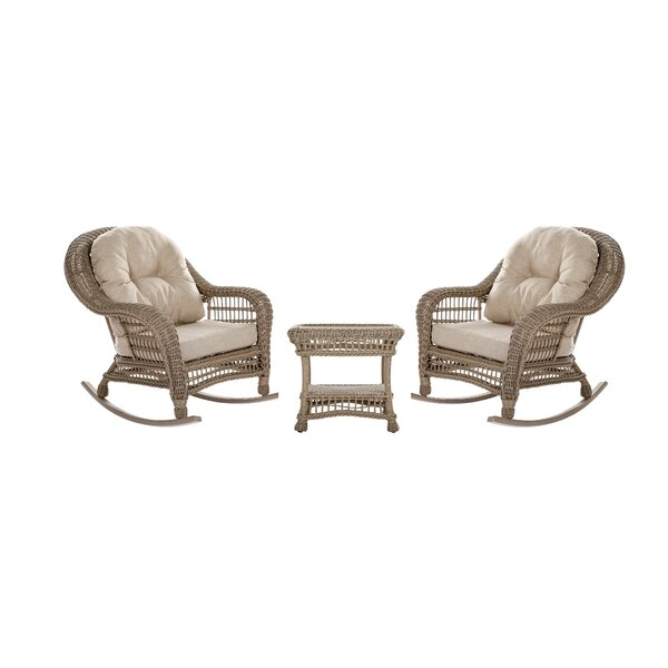 Simpson Outdoor Garden 3 Piece 2 Person Seating Group with Cushions by One Allium Way