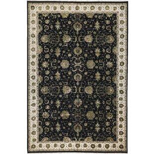 Order One-of-a-Kind Dharma Handwoven 12'2 x 18'4 Wool/Silk Black/Gray Area Rug ByBokara Rug Co., Inc.