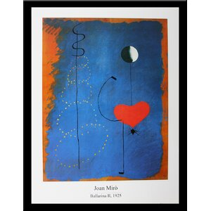 Museum Masters 'Ballerina II' by Joan Miro' Framed Painting Print by Buy Art For Less